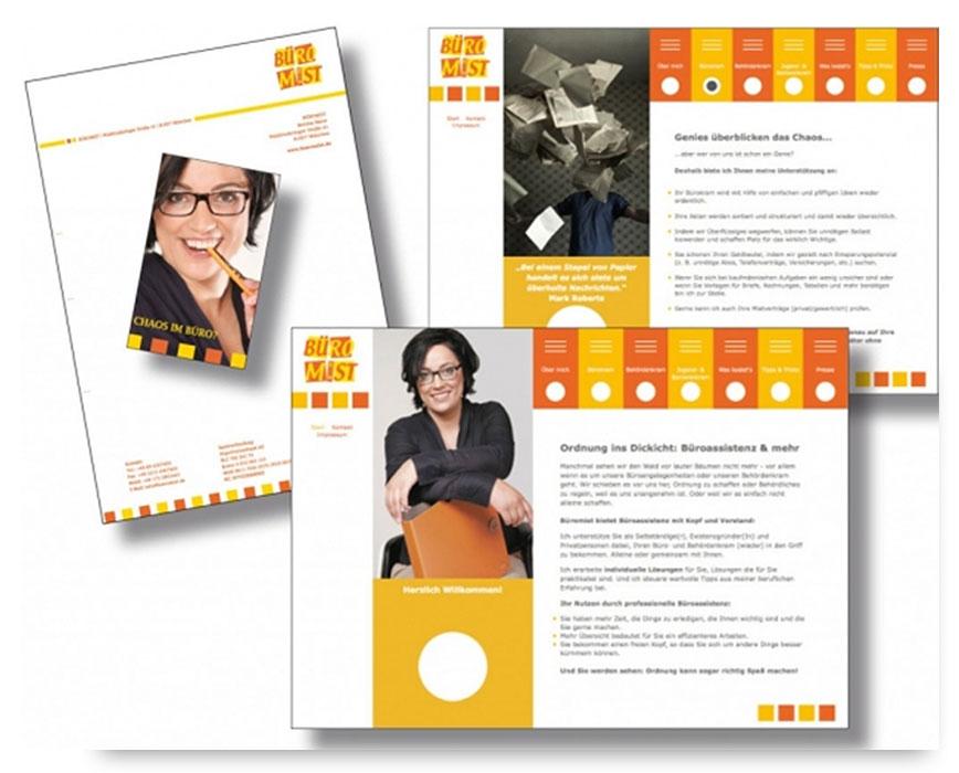 Die Markenbildnerei, München: Geschäftsausstattung, CD Büromist