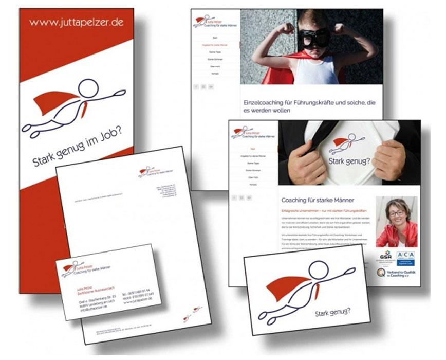 Die Markenbildnerei, München: Logo, CD, Geschäftsausstattung, Website Jutta Pelzer