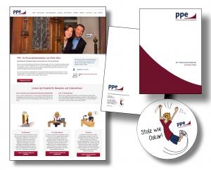 PPE Personaldienstleistung - Website und Geschäftsausstattung Die Markenbildnerei