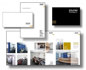 Architekturbüro Zauner - Logo, Geschäftsausstattung und Flyer: Die Markenbildnerei